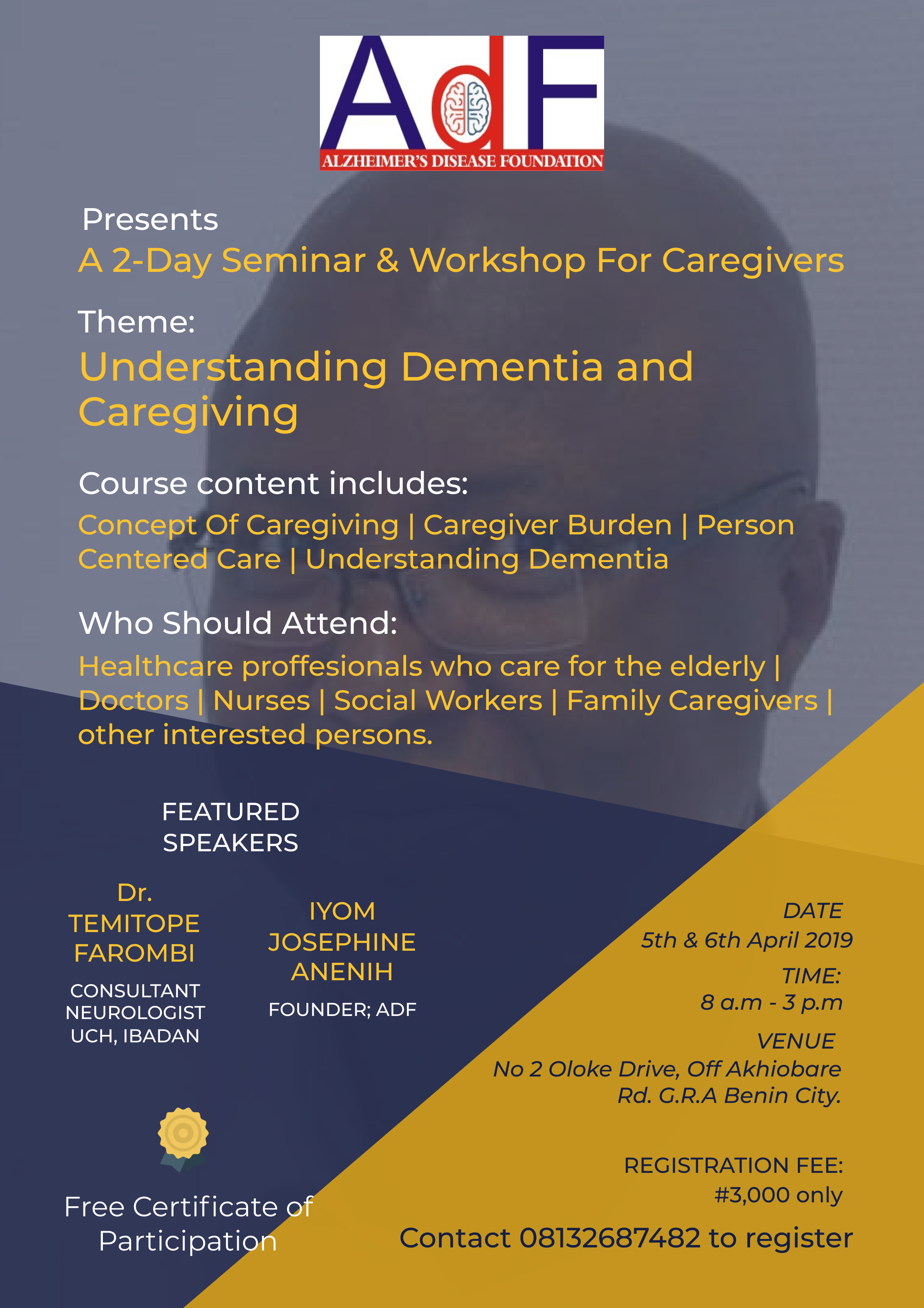 ADF 2-Day Training for Caregivers