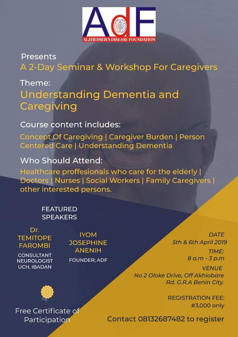 2-day seminar & workshop for caregivers
